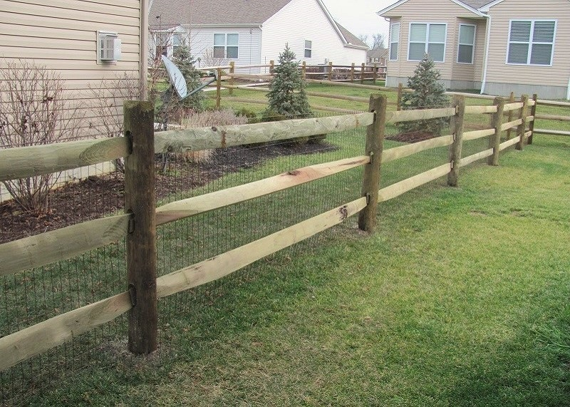 Pressure Treated Split Rail Fence