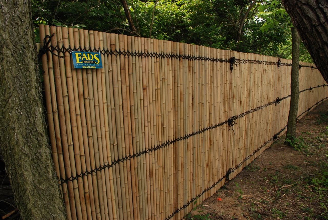 Ohio Fence Company Eads Fence Co Bamboo Privacy Photo