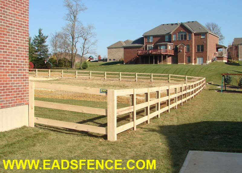 Ohio Fence Company Eads Fence Co 3 Rail Board Fence