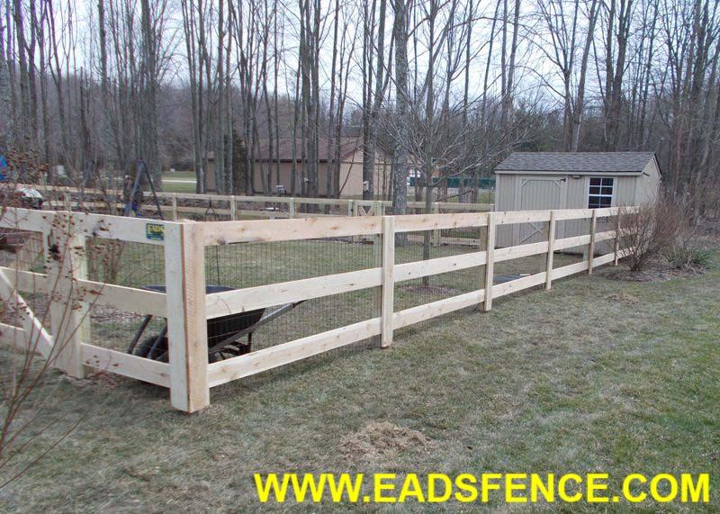Ohio Fence Company | Eads Fence Co.. 3 Rail Board Fence Photo Gallery