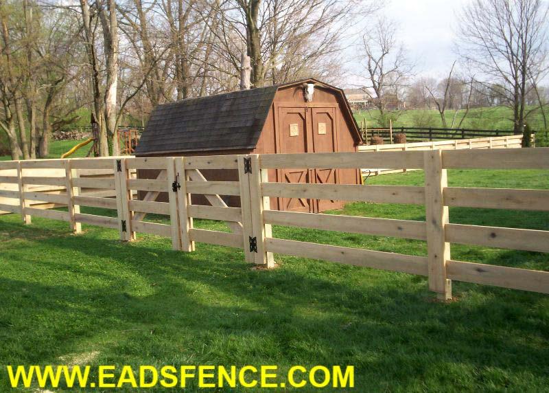 Ohio Fence Company Eads Fence Co 4 Rail Board Fence