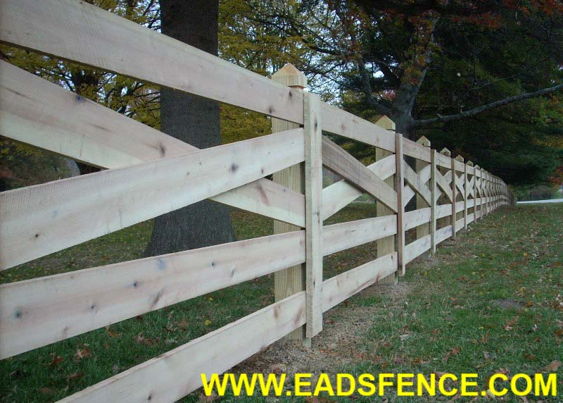 Ohio Fence Company | Eads Fence Co.. 5 Rail Crossbuck Fence Photo ...