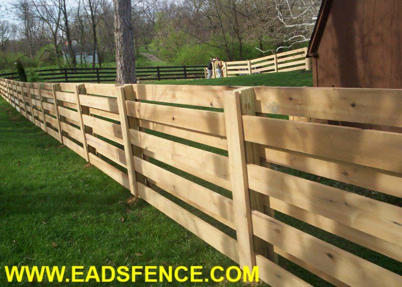 Ohio Fence Company Eads Fence Co Custom Board Fence