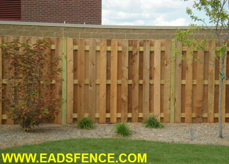 Ohio Fence Company Eads Fence Co Shadowbox Privacy