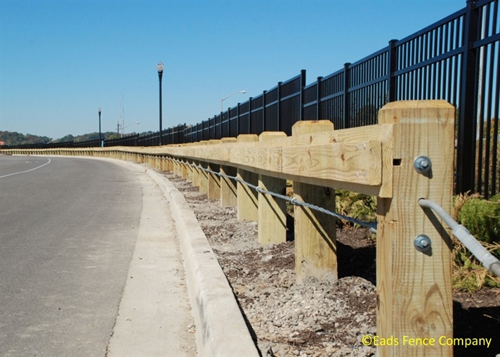Ohio Fence Company Eads Fence Co Guardrails