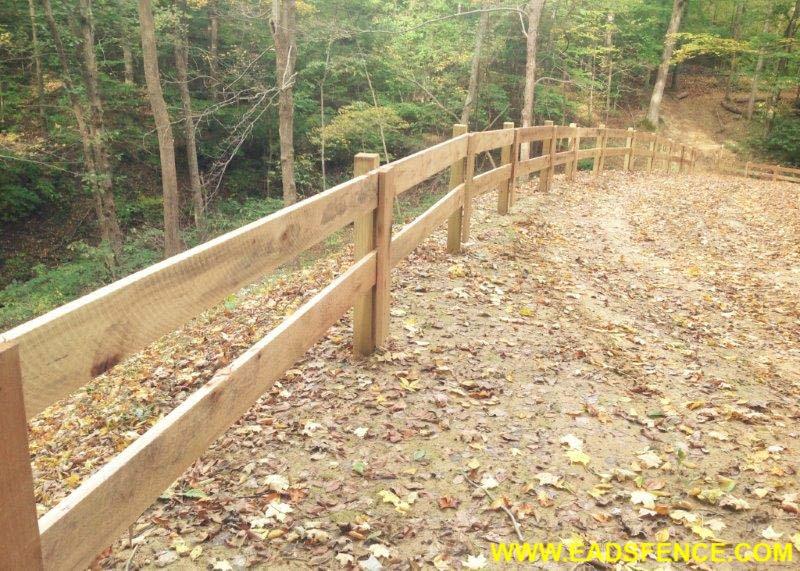 Ohio Fence Company Eads Fence Co 2 Rail Board Fence