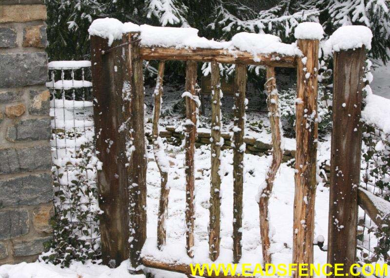 Ohio Fence Company Eads Fence Co Rustic Log Gates
