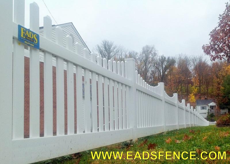 Ohio Fence Company Eads Fence Co Vinyl Picket Fence