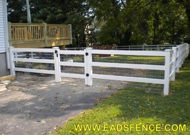 Ohio Fence Company Eads Fence Co Vinyl Ranch Rail