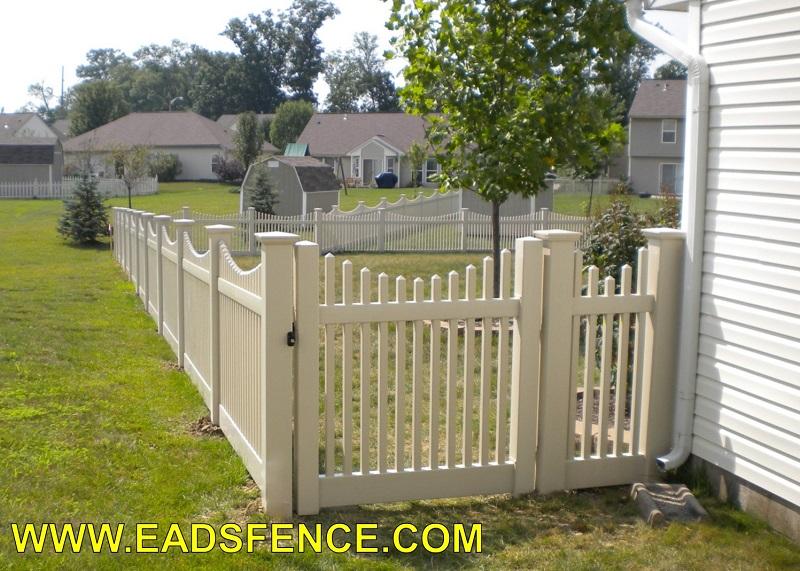 Ohio Fence Company Eads Fence Co Vinyl Picket Gates
