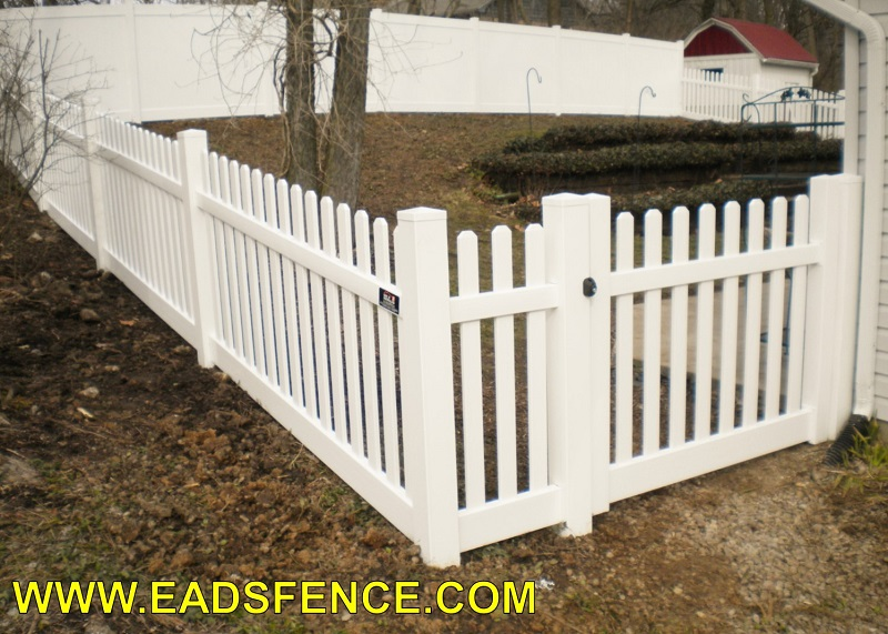 Ohio Fence Company Eads Fence Co Vinyl Picket Gates