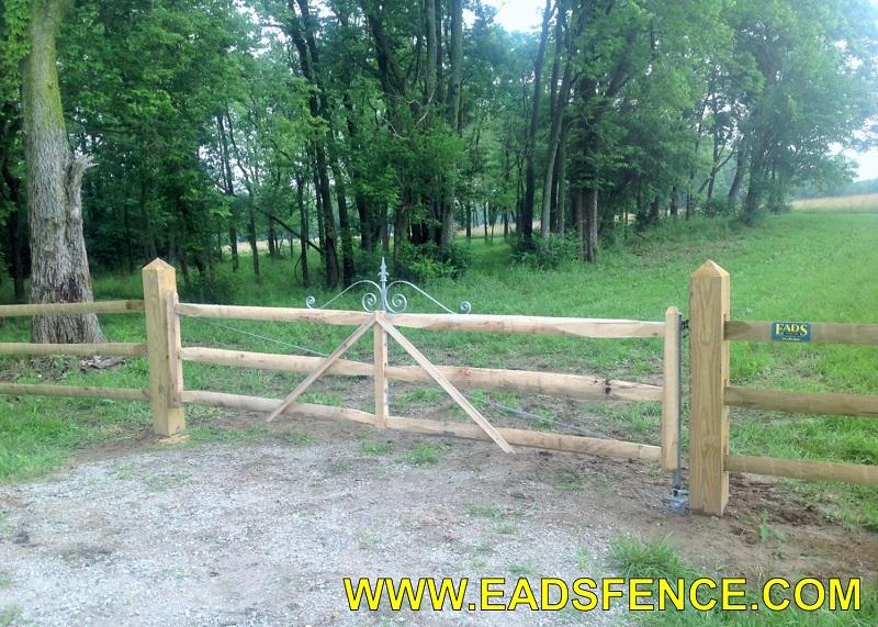 Ohio Fence Company Eads Fence Co Split Rail Entry Gates