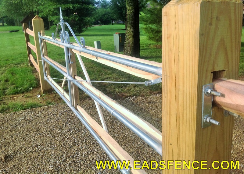 Ohio Fence Company Eads Fence Co Split Rail Entry Gates