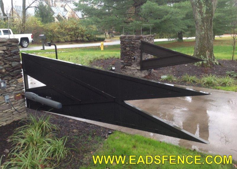 Ohio Fence Company Eads Fence Co Contemporary Estate Gates